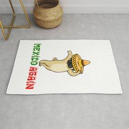 Cinco De Mayo Pug Sombrero - Make America Mexico Again Rug