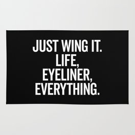 Just Wing It Funny Quote Rug