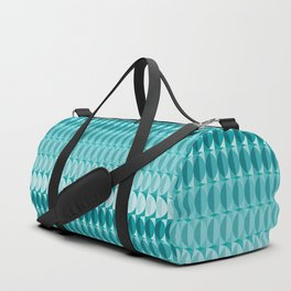 Leaves in the moonlight - a pattern in teal Duffle Bag