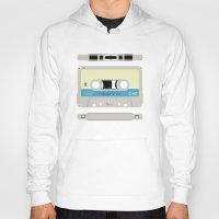 cassette Hoodies featuring Compact cassette by nvbr