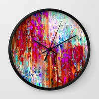 valentines Wall Clocks featuring Valentines Brunch by Glint & Lime Art