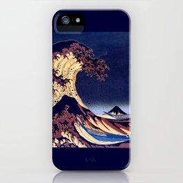 The Great Wave Off Kanagawa Inverted Katsushika Hokusai iPhone Case