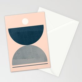 Abstraction_NEW_SHAPE_BALANCE_POP_ART_555AB Stationery Cards