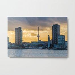 Euromast Rotterdam Skyline Metal Print
