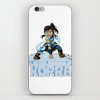 the legend of korra iPhone & iPod Skins featuring Korra by HelloTwinsies