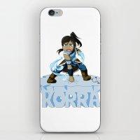 korra iPhone & iPod Skins featuring Korra by HelloTwinsies