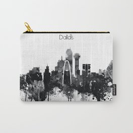 Dallas TexasBlack White Skyline Poster Carry-All Pouch
