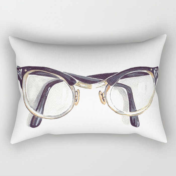 Vintage glasses Rectangular Pillow