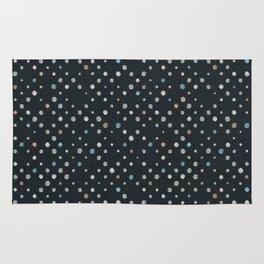 LOTS OF DOTS / black / linen beige / light blue / rose beige Rug