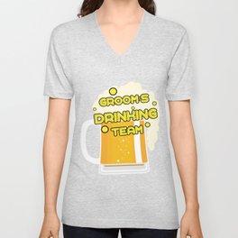 Team Groom - Groom's Drinking Team Funny Unisex V-Neck