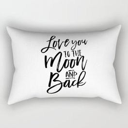 i love you to the moon and back,kids room decor,nursery decor,children wall art,girly,baby print Rectangular Pillow