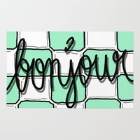 bonjour Area & Throw Rugs featuring Bonjour by evuaffs