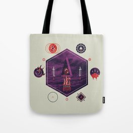 It fell from the stars, It rose from the sea Tote Bag