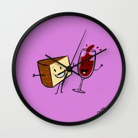Manchego & Red Wine Wall Clock