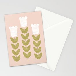 Crosshatched Flower Stationery Cards
