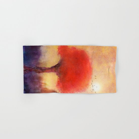 Red Tree Hand & Bath Towel