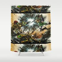 battlefield Shower Curtains featuring The Battlefield by Fresh Doodle - JP Valderrama