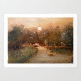 Impressionist Landscape Oil Painting Art Print