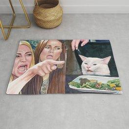 Woman yelling at cat meme #18 Rug