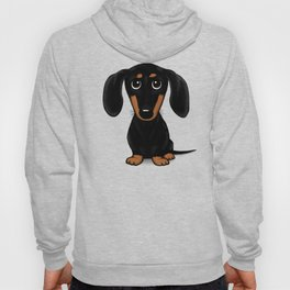 Black and Tan Shorthaired Dachshund Hoody