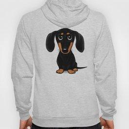 Black and Tan Dachshund | Cute Cartoon Wiener Dog Hoody
