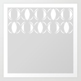 Abstract pattern - gray and white. Art Print