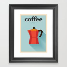 Minimal Coffee Poster Framed Art Print