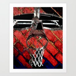 Red Basketball Art Art Print