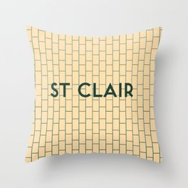 ST. CLAIR | Subway Station Throw Pillow