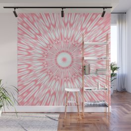 Salmon Pink Kaleidoscope Wall Mural