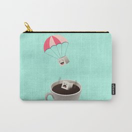 Sugar Cubes Jumping in a Cup of Coffee Carry-All Pouch