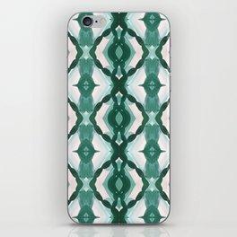 Watercolor Green Tile 1 iPhone Skin