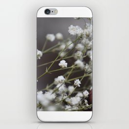 White Flowers iPhone Skin