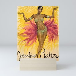 Vintage Josephine Baker Advertising Paris Wall Art in full color Mini Art Print