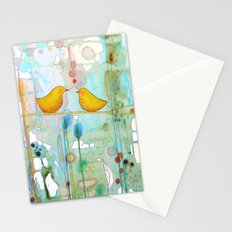 dans chaque coeur Stationery Cards