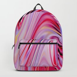 Waves and swirls, abstract, decorative patterns, colorful piece no 18 Backpack