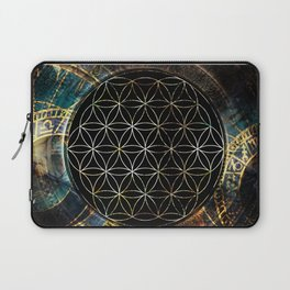 Flower of Life and Zodiac in Cosmic Space Laptop Sleeve