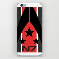 n7 iPhone & iPod Skins featuring N7 MASS EFFECT by MDRMDRMDR