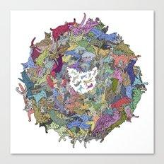Cats Donut Galaxy - Rainbow Earth Canvas Print