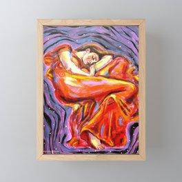 Flaming June at Night Framed Mini Art Print