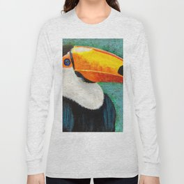 Colorful Toucan portrait Long Sleeve T-shirt