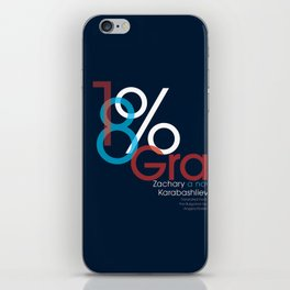 18% Gray iPhone Skin