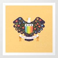 Dreaming (not Screaming) Eagle Art Print