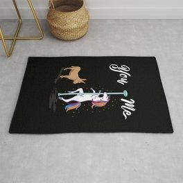 Unicorn Gift: You & Me I Lama & Horse I Rainbow Rug