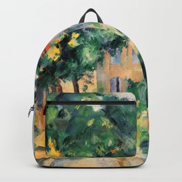 """Paul Cezanne """"House with red roof"""", 1890 Backpack"""