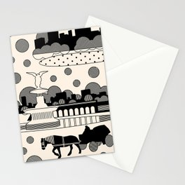 central park snow Stationery Cards