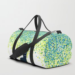 Cat in the garden under willow tree Duffle Bag