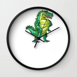 Crocodile Wife Alligator Reptile Animal Wall Clock