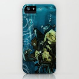 Falling into the dark iPhone Case