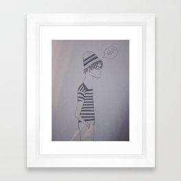 meh Framed Art Print
